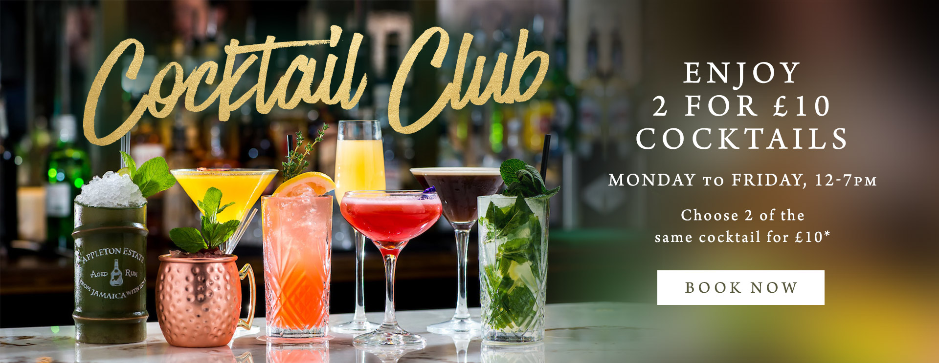 2 for £10 cocktails at The Woolpack